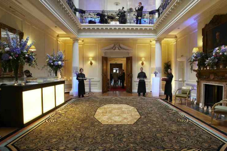 Hedsor House Venue Hire SL6, grand hall with doormen