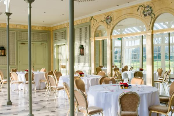 Hurlingham Club Venue Hire SW6, conservatory room with dining