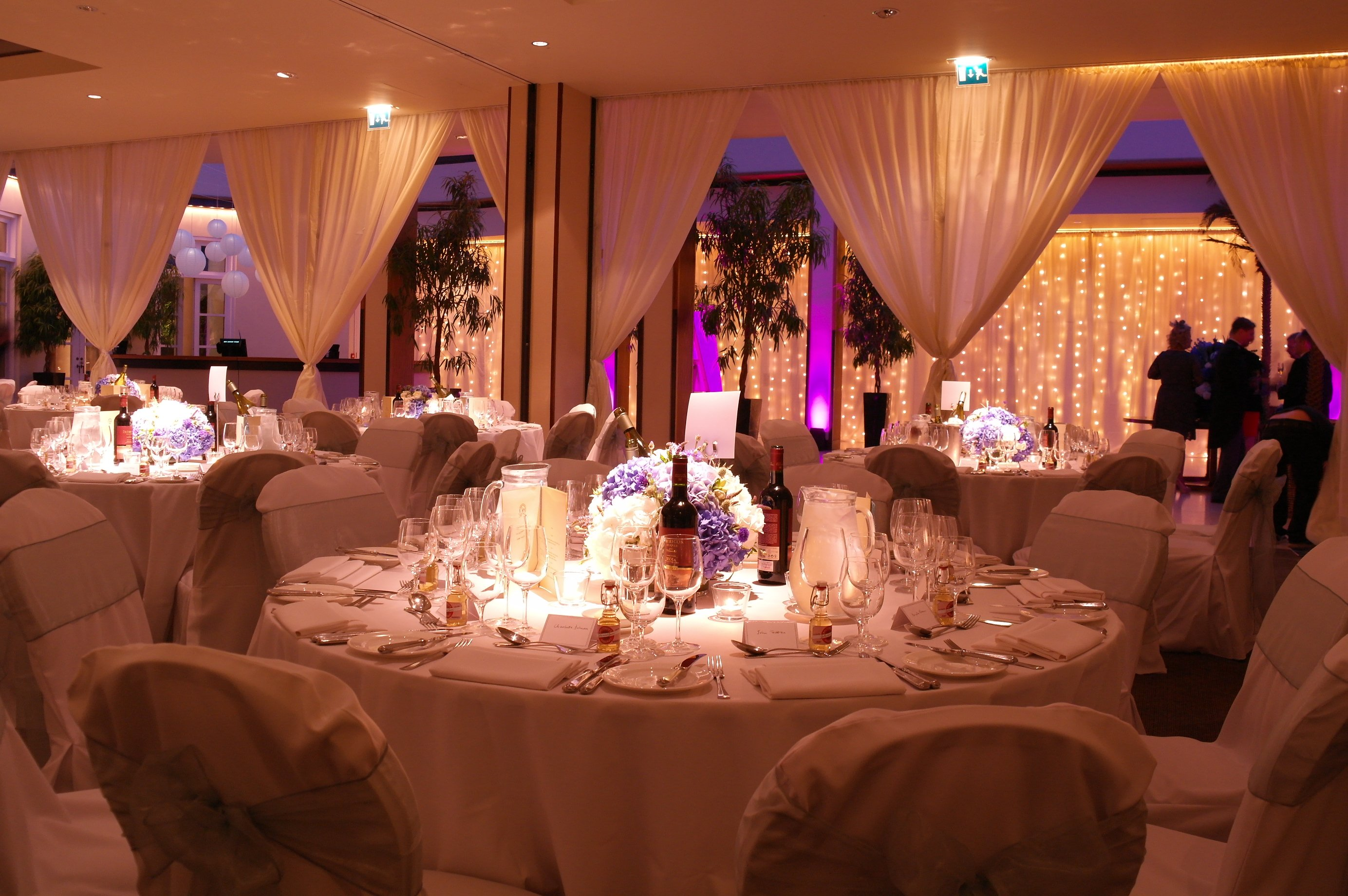 Hurlingham Club Christmas Party Venue SW6, private dining with mood lightinng
