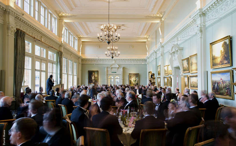 Lord's Cricket Ground Christmas Party NW8, guests sat down for a seated meal