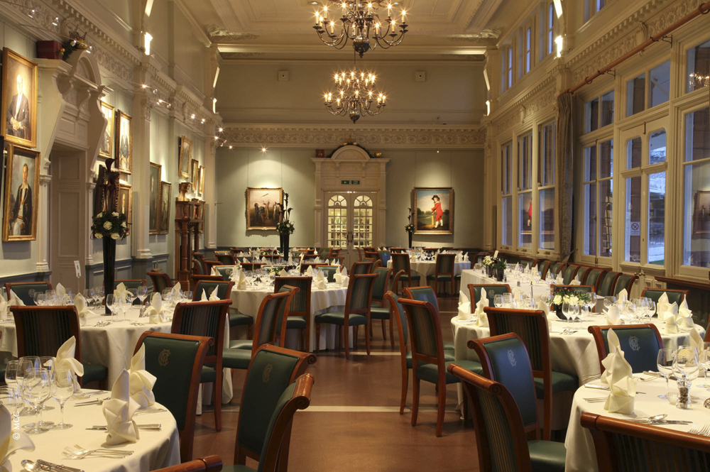 Lord's Cricket Ground Venue Hire NW8, set up for private dining in grand ballroom