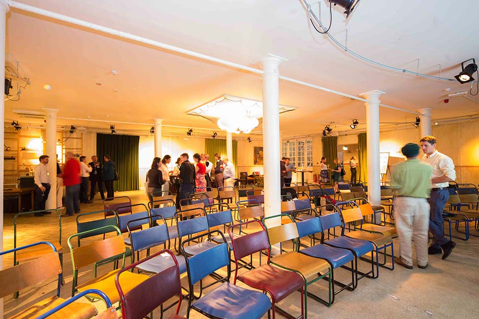 Tanner Warehouse Venue Hire London SE1, warehouse with coloured chairs for a conference