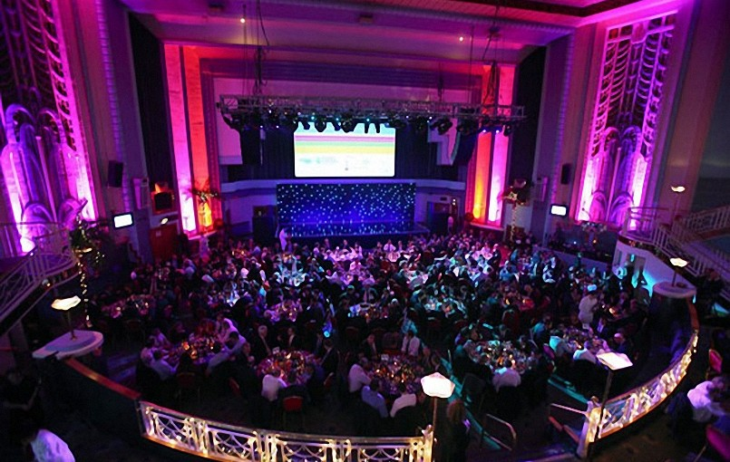 Troxy London Christmas Party E1, view of guests having aprivate dining experience