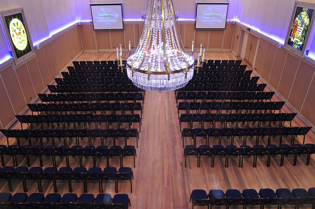 Glaziers Hall London Venue Hire SE1, main room set up conference style