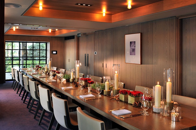 Hari Hotel Venue Hire SW1 long large table for guests to enjoy their dinner