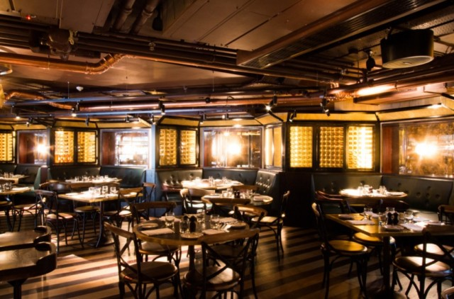 Restaurant set for lunch with relaxed tables and chairs Botanist Broadgate Circle Venue Hire EC2
