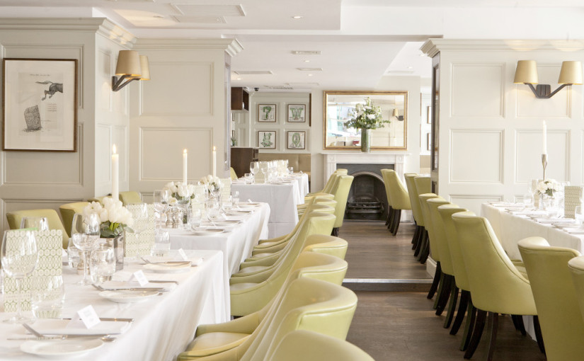 Restaurant Chiswell Street Dining Rooms Venue Hire EC1. The Cornwallis Room is the largest private room available and is perfect for private parties of up to 120 people