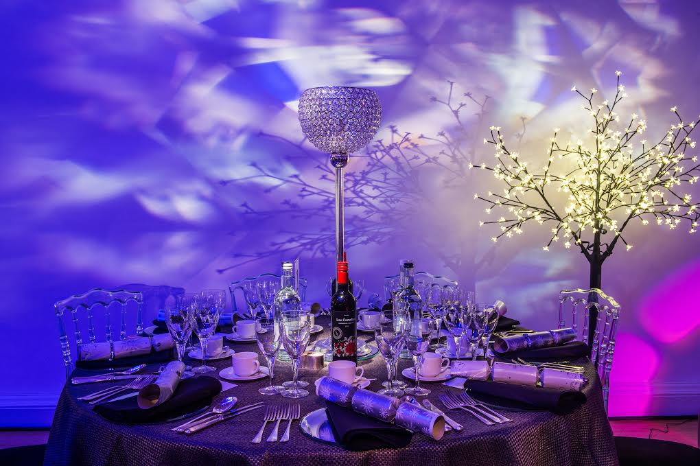 Hellenic Centre London Christmas Party W1, themed venue with smoke