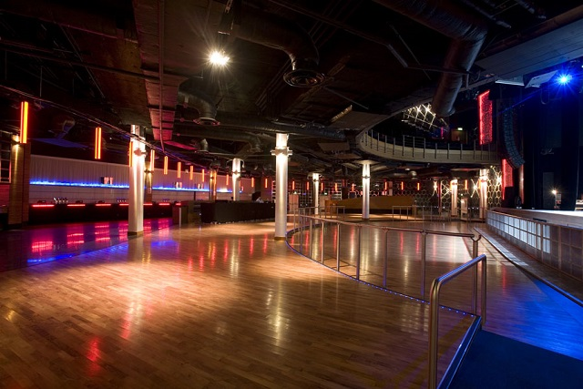 Indigo at The O2 Venue Hire SE10, large empty dance floor with wooden floor