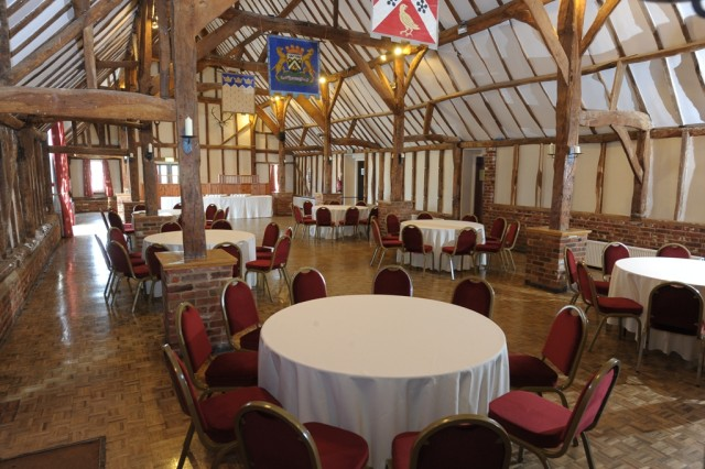 Knebworth House Venue Hire Hertfordshire , seated dinner, round tables