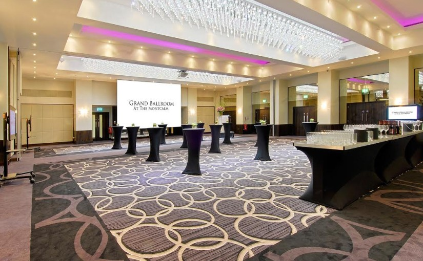 Montcalm Marble Arch Venue Hire W1 standing reception space with poser tables