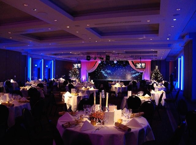 Royal Garden Hotel Christmas Party Venue W8. Christmas dining.