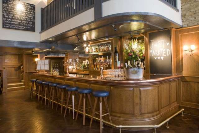 Pub level on the ground level with view of the bar and informal seating White Swan Venue Hire EC4