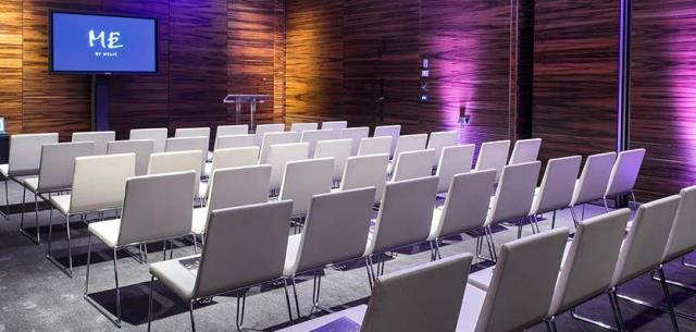 ME London Venue Hire WC2 conference room with chairs set up theatre style