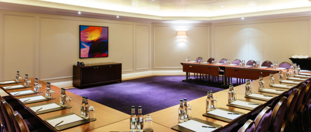 Nelson Room set for a meeting in u-shape Corinthia London Venue Hire SW1