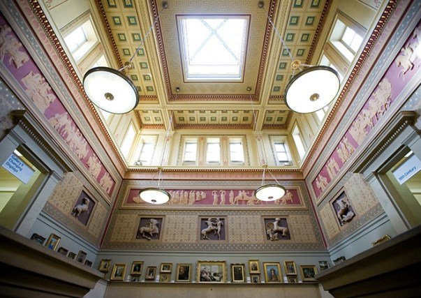 Grand Victorian Entrance ceiling Manchester Art Gallery Venue Hire M2