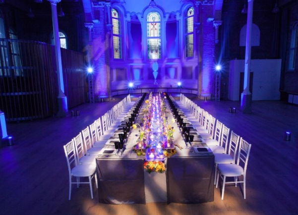 banquet layout for dinner Hallé St. Peter's Venue Hire M4