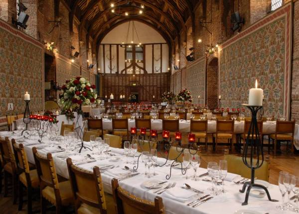 Hatfield House Christmas Party AL9, seated dinner, unique venue, traditional