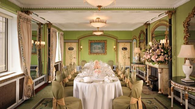 Dorchester Hotel Venue Hire W1 dining room for boardroom meeting