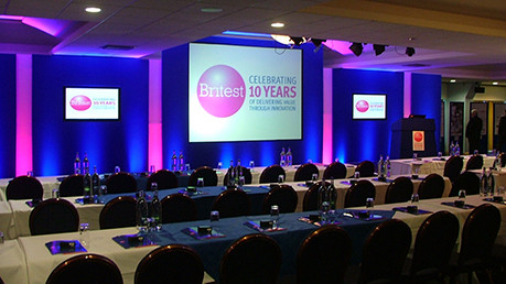 Classroom style layout with presentation in a meeting room at Bolton Whites Hotel Venue Hire BL6
