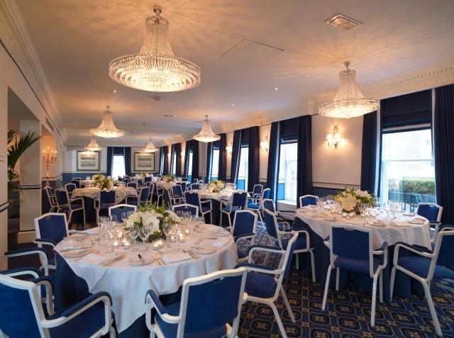 Chesterfield Mayfair Venue Hire London W1, royal suite set up cabaret