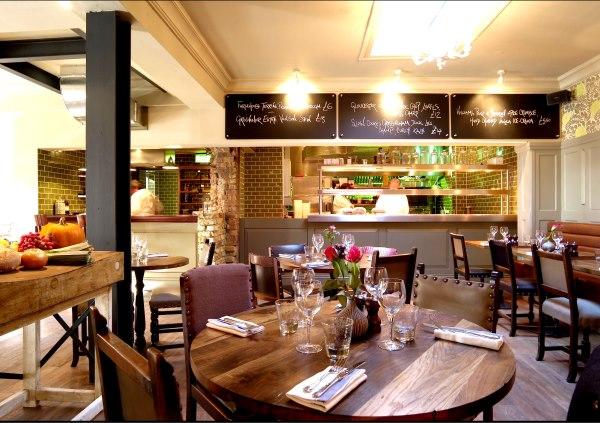 Bumpkin South Kensington Venue Hire SW7, restaurant set up