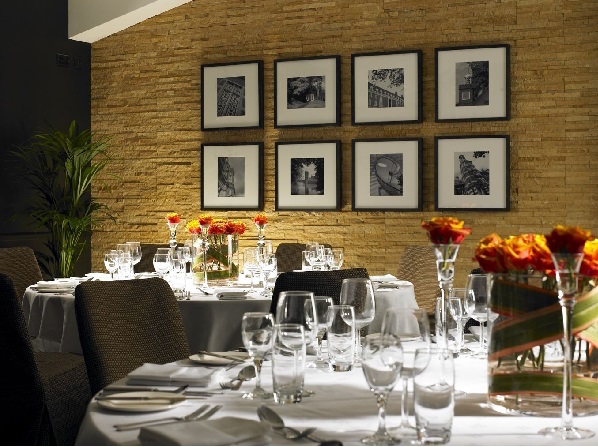 Staverton Park Christmas Party NN1, private dining table with flowers