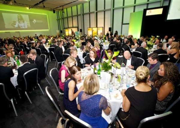 Members Suite set up for a gala dinner Emirates Old Trafford Venue Hire M16