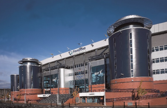 Hampden Park Venue Hire G4, exterior of the unique stadium