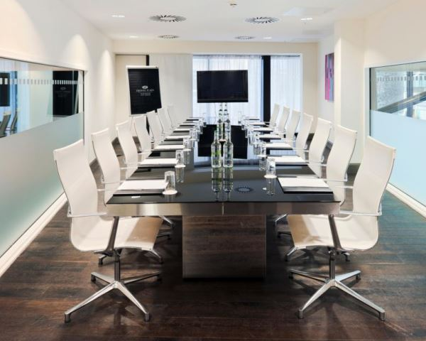Boardroom layout in a meeting room Crowne Plaza Manchester Venue Hire M4