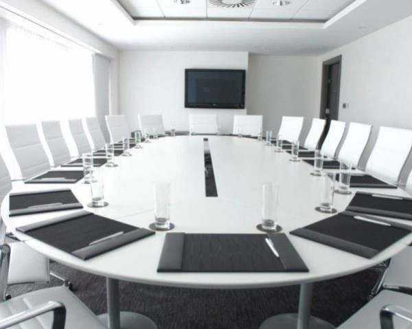 Meeting room set up for board meeting Crowne Plaza Manchester Venue Hire M4