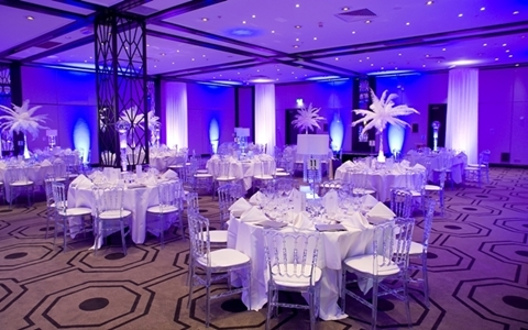 Hilton London Gatwick Venue Hire RH6, blue lighting