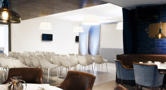 Theatre style layout for presentation in the Chairmans Club Manchester City Football Club Venue Hire M11