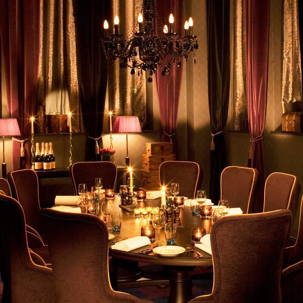 Malmaison Liverpool Venue Hire L3, private dining with intimate lighting