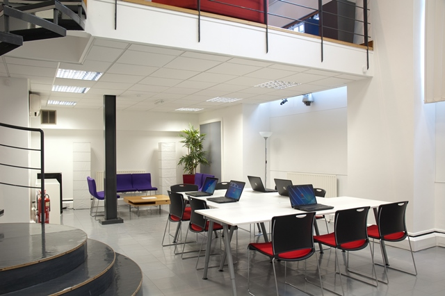 Classroom layout in the Pioneer Suite Venue Hire M1