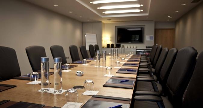 Hilton Heathrow Terminal 5 Venue Hire SL3, boardroom set up