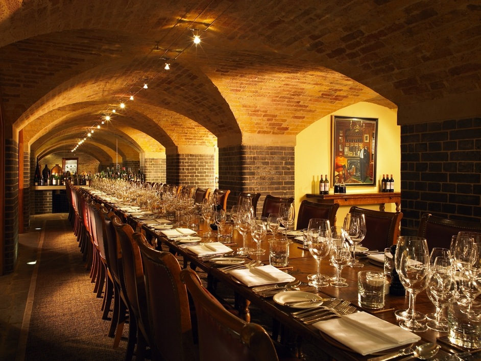 Berry Brothers & Rudd Venue Hire SW1 Long table in underground cella