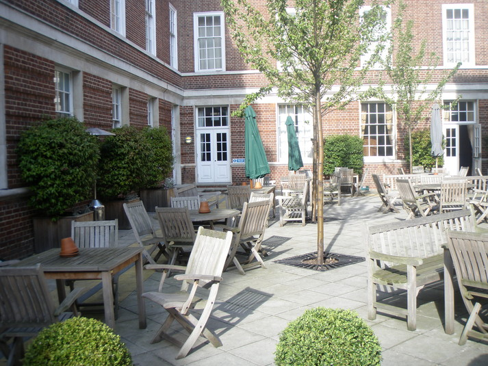 Devonport House Summer Party SE10, outside space, seating area