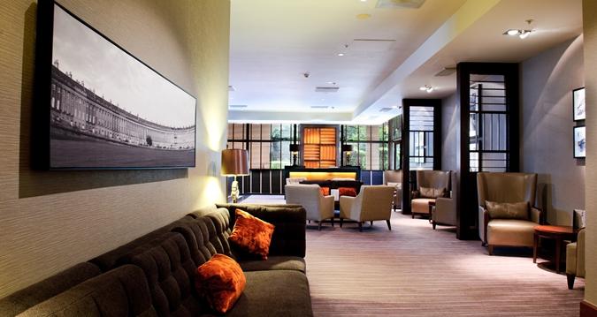Hilton Bath Christmas Party BA1, reception area with sofas