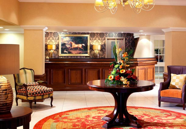 Preston Marriott Hotel Christmas Party PR3- Reception area ready to greet guests