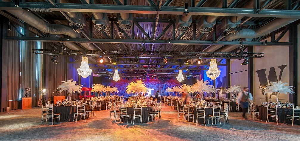 Rum Warehouse and Titanic Hotel Venue Hire L3, large room set up for christmas