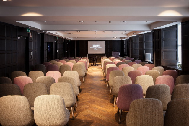Blythswood Square Hotel Summer Party G2 conference room with chairs set out theatre style