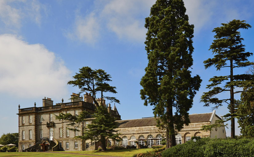 Dalmahoy Hotel and Country Club Summer Party EH27, exterior of the venue, large open grass, land for outside events