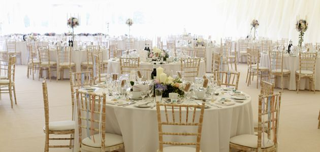 Epsom Downs Racecourse Summer Party KT18 round banqueting tables