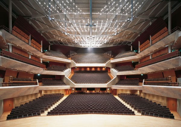 Theatre style layout in the AuditoriumBridgewater Hall Venue Hire, M2