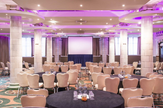Palace Hotel Venue Hire M6, seated conference, theatre style, large screens