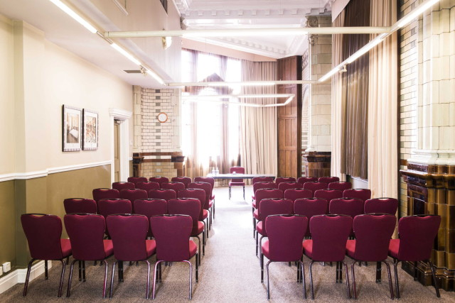 Palace Hotel Venue Hire M6, conference, theatre style seating, natural daylight