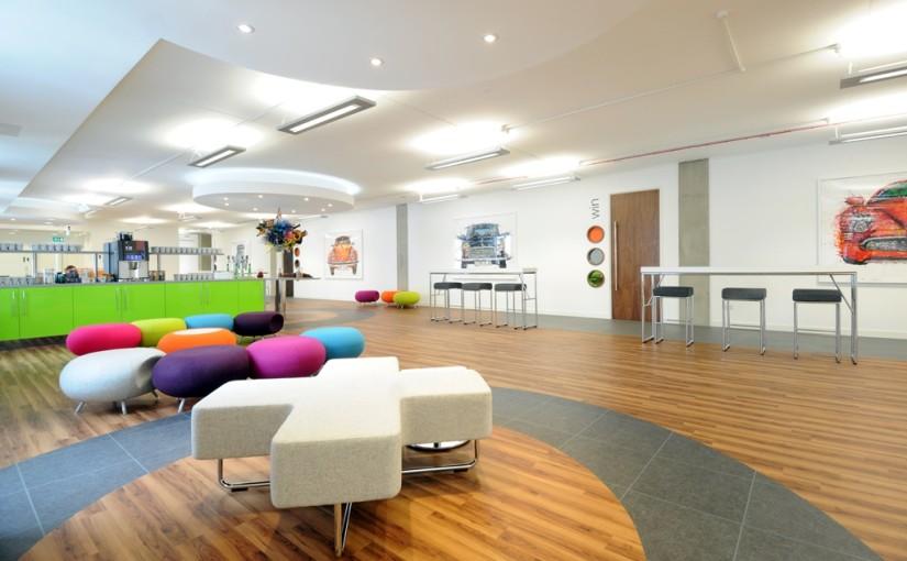 Studio Manchester Venue Hire M1, coloured seats in main hall