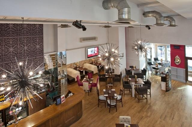 Slug and Lettuce Wood Street Venue Hire EC2. Venues large space with mordern furnishings
