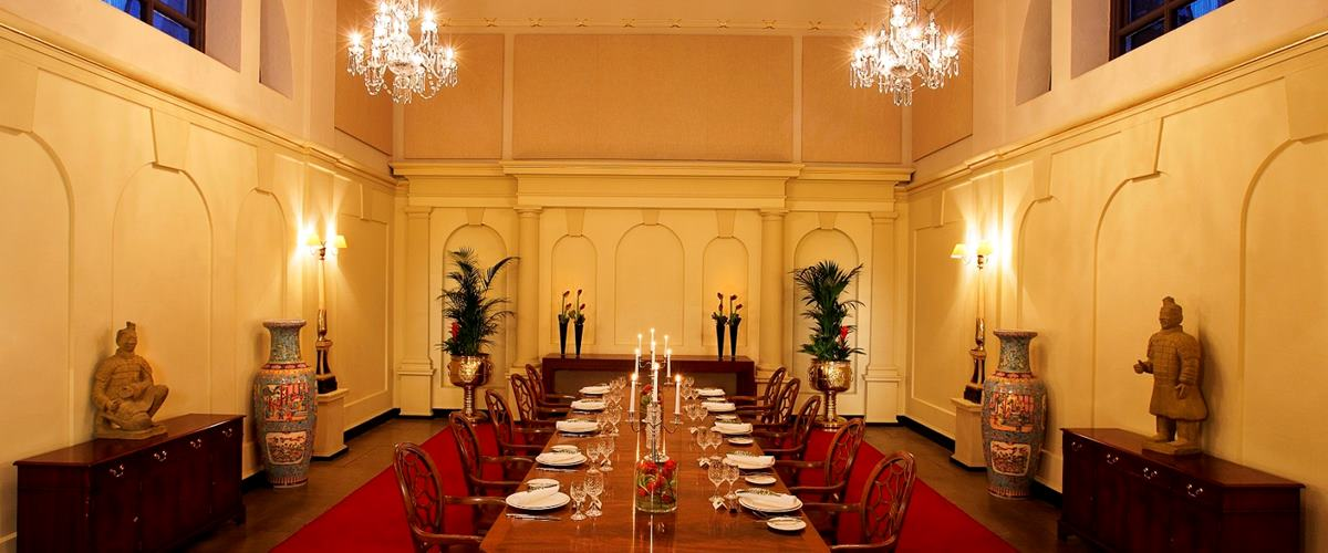 Boardroom layout in the The Chapel Bloomsbury Hotel Venue Hire London WC1